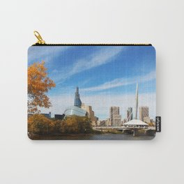 Downtown Winnipeg 2 Picture Panorama Carry-All Pouch