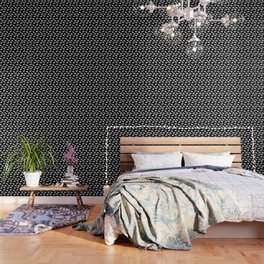 Moose Trot // Black Wallpaper