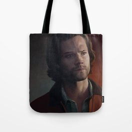 Sam Winchester. Red Jacket Tote Bag