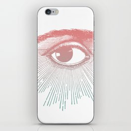 I See You. Pink Turquoise Gradient Sunburst iPhone Skin