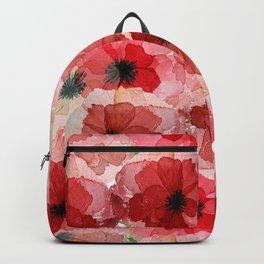 Pressed Poppy Blossom Pattern Backpack