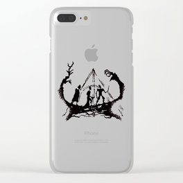The Three Brothers Inktober Drawing Clear iPhone Case