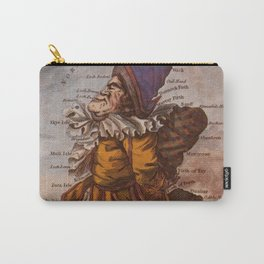 Vintage Illustrative Map of Scotland (1794) Carry-All Pouch