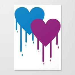Melt Heart Canvas Print