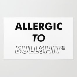 Allergic to bullshit - Poster Print #tumblr Rug