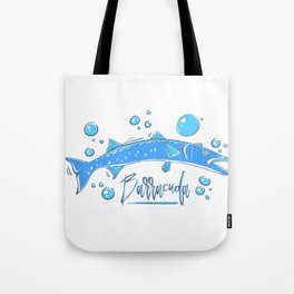 Big Blue Barracuda Tote Bag