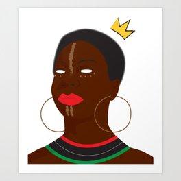 Queen Simone Art Print