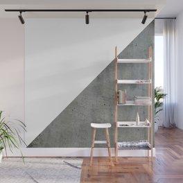 Concrete Vs White Wall Mural