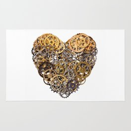 Mechanical heart Rug