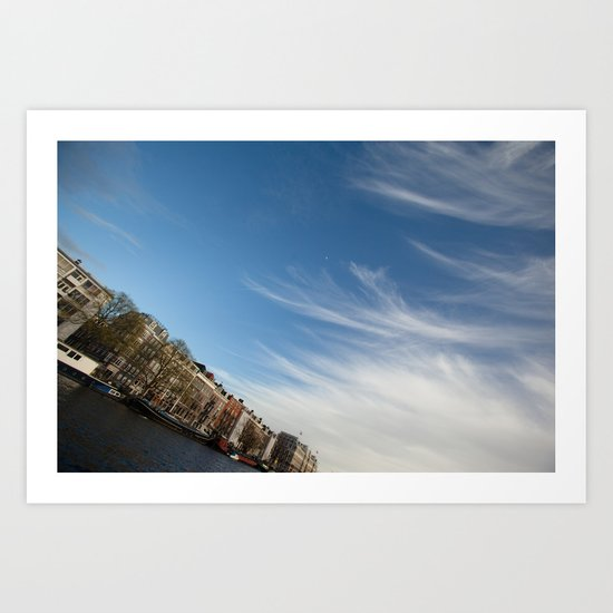 Feathery Clouds Art Print
