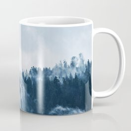 CLOUDS - WHITE - FOG - TREES - FOREST - LANDSCAPE - NATURE - TIMBER - WOODS - PHOTOGRAPHY Coffee Mug