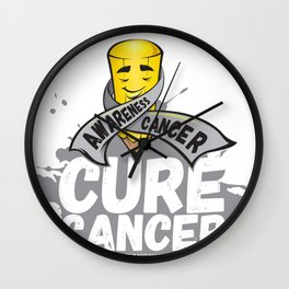 Cure Cancer Wall Clock