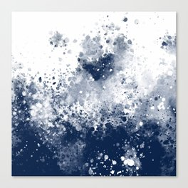 Dark Water Spash Canvas Print