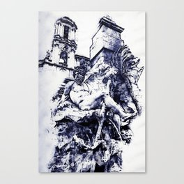 Rome, Piazza Navona Canvas Print