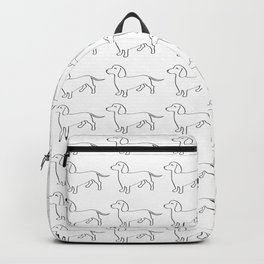 Doxie Love - White Backpack