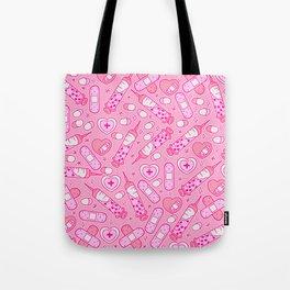 Kawaii Menhera on Pink Tote Bag