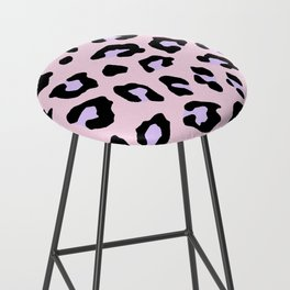 Leopard Print - Lavender Blush Bar Stool