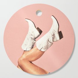 These Boots - Pink Cutting Board