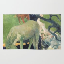 The White Horse by Paul Gauguin Rug