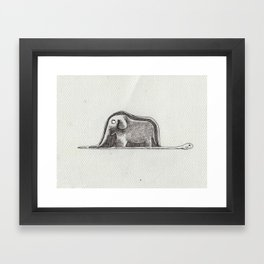 this is not a hat. Framed Art Print