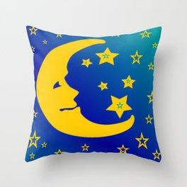 Mr. Moon Throw Pillow