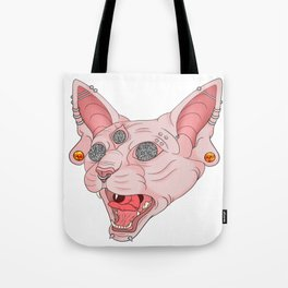 Freaky Kitty v.2 Tote Bag