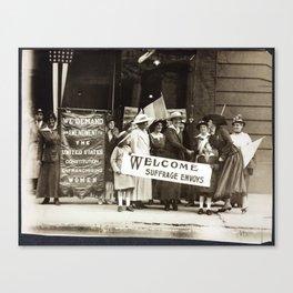 Suffrage Envoy Photograph (1915) Canvas Print