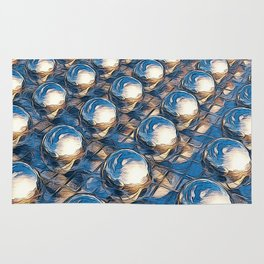 Abstract Spheres In A Row Rug