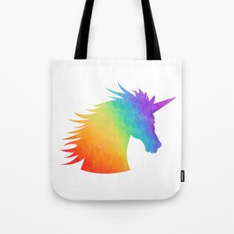 Rainbow Unicorn Silhouette Tote Bag