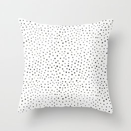 dalmatian print Throw Pillow
