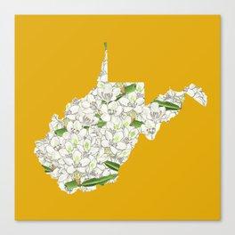 West Virginia in Flowers Canvas Print