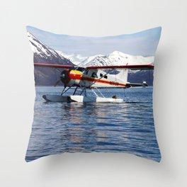 Beaver Float Plane Photography Print Throw Pillow