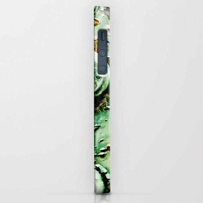 Green Door Handle, Peeling Turquoise Paint, Rusty Door iPhone Case
