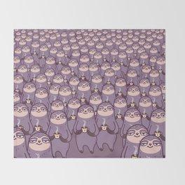 Sloths -tastic! Throw Blanket
