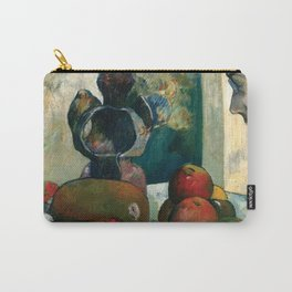 Still Life with Profile of Laval by Paul Gauguin Carry-All Pouch