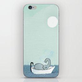 Elephant Takes A Bath iPhone Skin