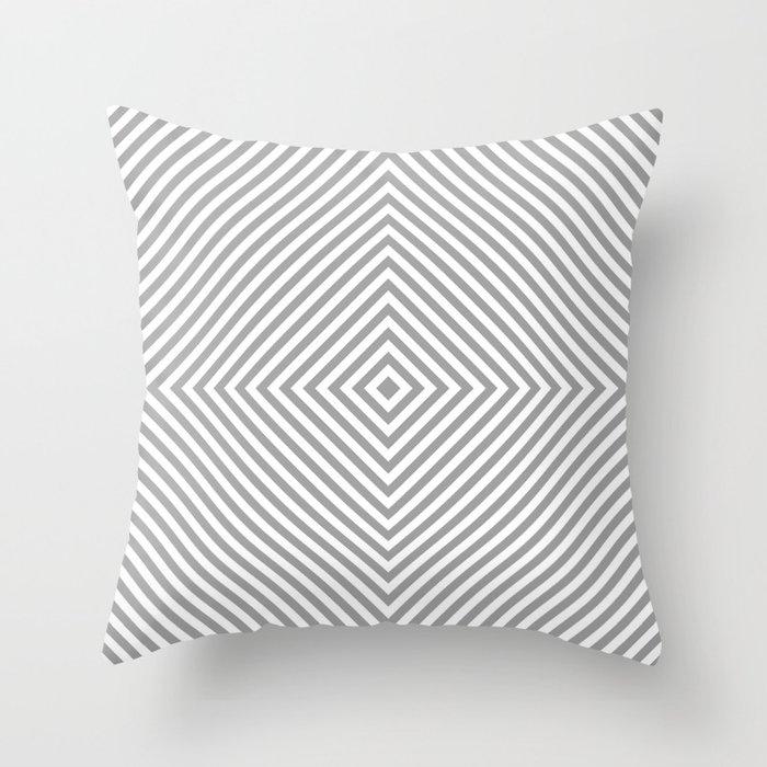 grey diamond Throw Pillow