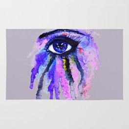 Blue eye splashing Rug