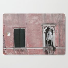 Pink and Black Venetian Building Cutting Board