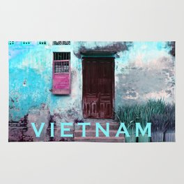 ANTIQUE CHINESE WALL of HOI AN in VIETNAM Rug