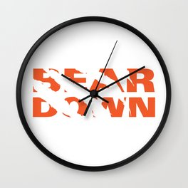 Bear Down - Claw Tear Wall Clock