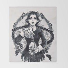Miss Wednesday Addams Throw Blanket