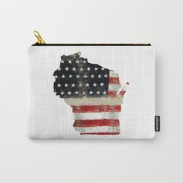 WISCONSIN FLAG Carry-All Pouch