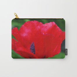 Red oriental poppy flower Carry-All Pouch