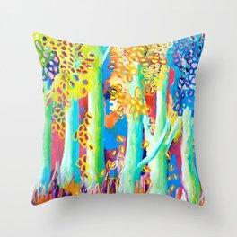 Blue Gums Throw Pillow