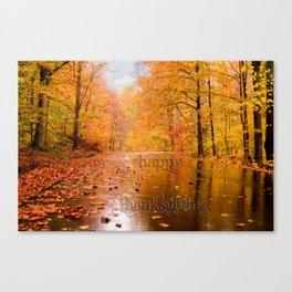 Happy Thanksgiving Greetings Canvas Print
