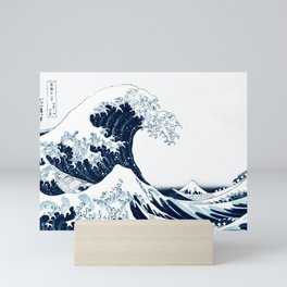 The Great Wave - Halftone Mini Art Print