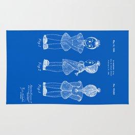 Creepy Doll Patent - Blueprint Rug