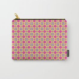 Pink Mediterranean tiles pattern Carry-All Pouch