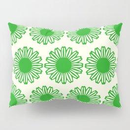 vintage flowers green Pillow Sham